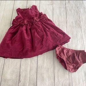 Janie and jack red velvet dress